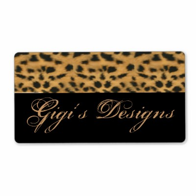 Cheetah Animal Print Handmade Labels (5-pack)